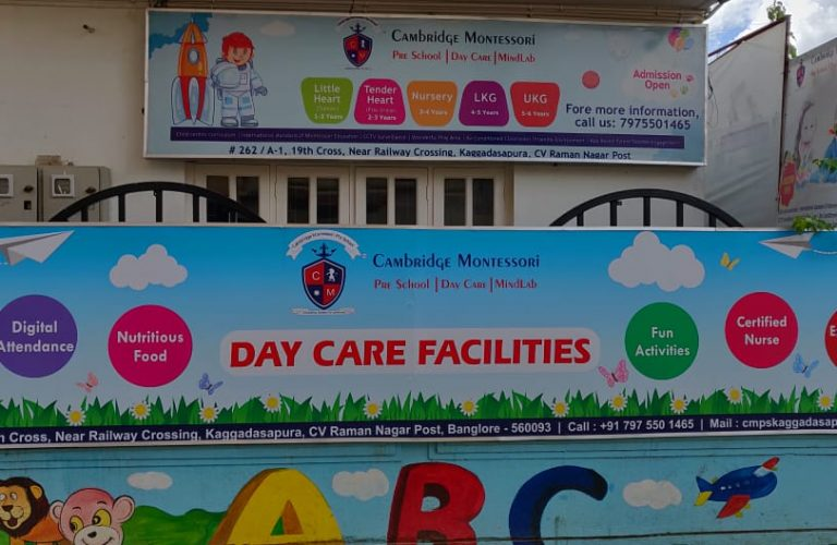 Preschool in Kaggadasapura, Malleshpalya,CV Raman Nagar, bagmane Tech park